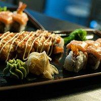 Hot sushi maki Rolls!