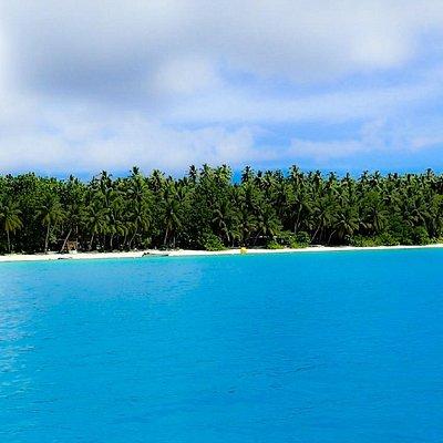 Ant Atoll Lagoon looking towards barrier island