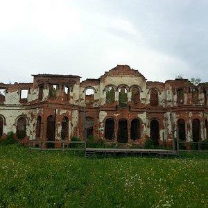 Руинированная усадьба в Гостилицах