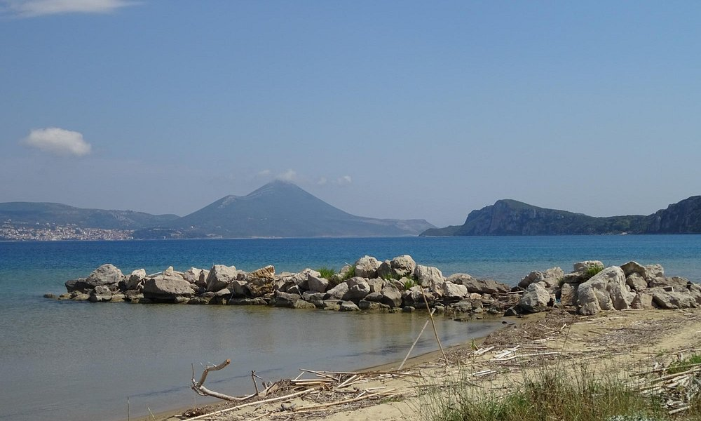 View back to Pylos from Voidokilia