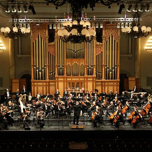 The orchestra regularly performs in the brilliant accoustic of the Adelaide Town Hall