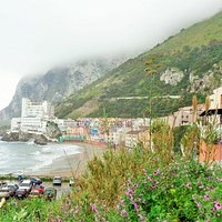 A view of Catalan Bay with part of the new huge car park in the bottom left