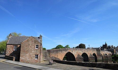 Devorgilla's Bridge and Old Bridge House Museum, Dumfries, 2015