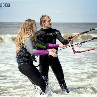 Kitesurfles op Vlieland