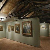 Prima sala del Museo M. Olivero