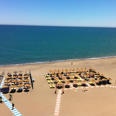 at the Bajondillo Beach