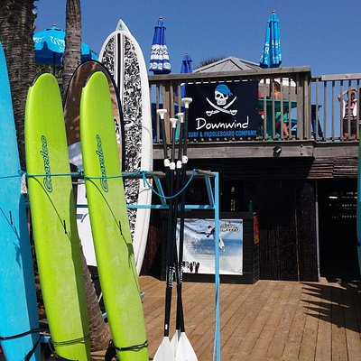 The booth on the sand by Damon's