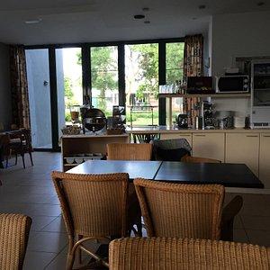 The pleasant lounge/restaurant area.