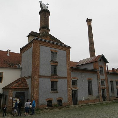 A view in the brewery courtyard.