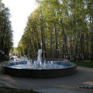 Большой фонтан ниже смотровой площадки