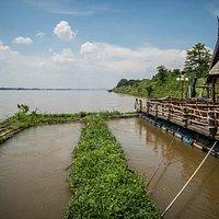 Savan Lao Deam - attached fish farm