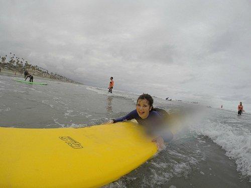 having fun surfing