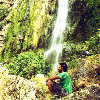 Me Next to the Waterfall