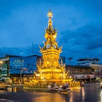 Chiang Rai Clock Tower at night
