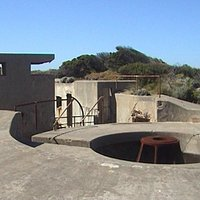 Gun emplacements at Fort Pearce