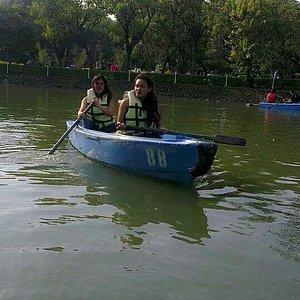 Enjoying the day with kayaking