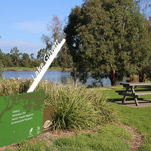 Lake Guthridge on the Sale Common Wetlands Walk