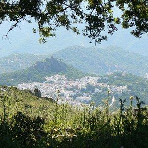 Gaucin Village viewed from Sierra El Hacho Peak (1011m)
