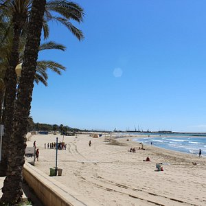 The beaches of Vilanova i la Geltru