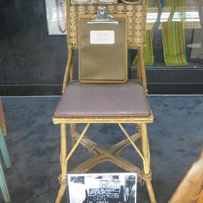 Ingrid Bergman chair at Rick's in Casablanca