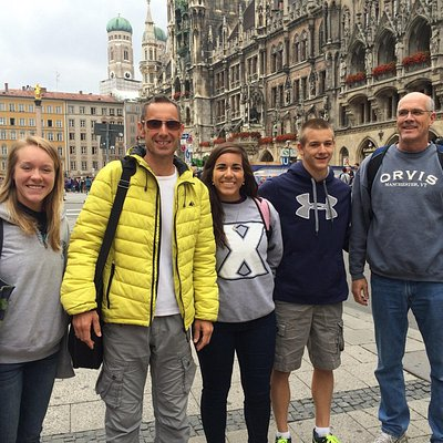 Alum and the ODell family following   our Dachau Concentration camp tour . Thank you giving us f