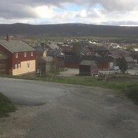 De oude woningen in het dorp