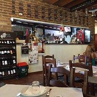 Vista do restaurante e suas sobremesas maravilhosas: Sericaia, Encharcada e (a melhor para mim):