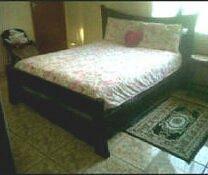 Black bed old