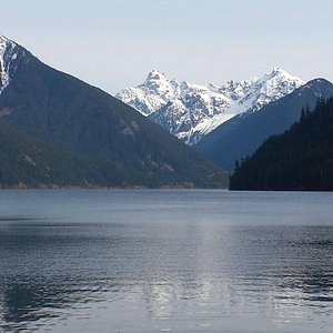 Chilliwack Lake from the boat launch.