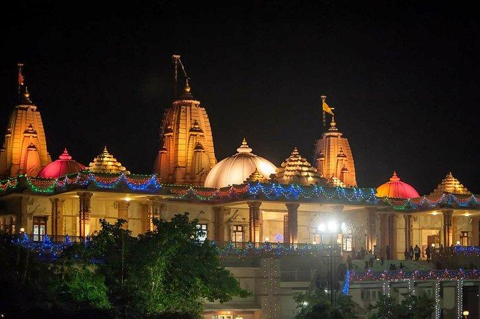 Night Side View of Adalaj Trimandir