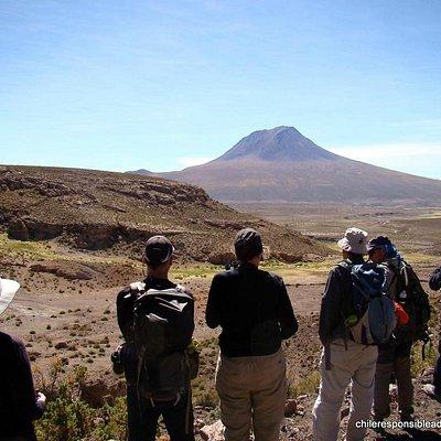 Hiking at the Atacama highlands