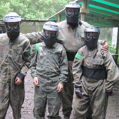Safe fun in the woods with Unique Pursuits Paintballing (20/Jun/15).