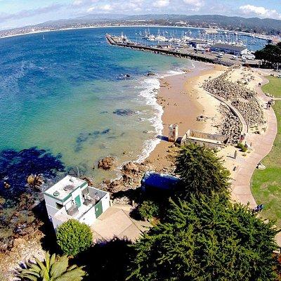 San Carlos Beach located right across the street from BreakWater Scuba Shop