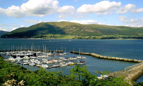 Looking over Carlingford Marina and Carlingford Lough from the Omeath Road.