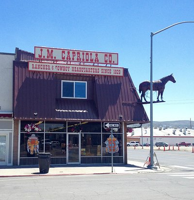 This iconic store is easily spotted by the horse!