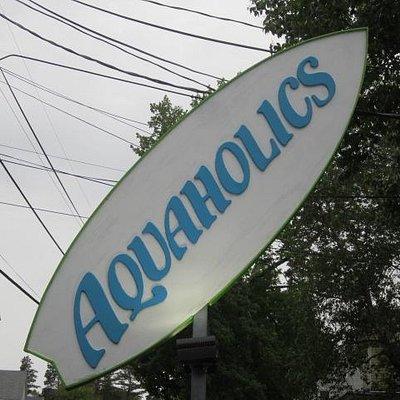 Aquaholics Sign