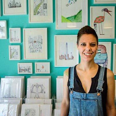 Natchie in her store in Dumbo