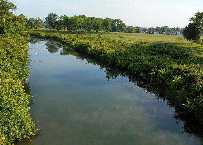 The creek that runs through the park