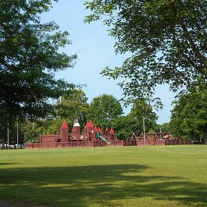 A playground at the park