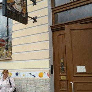 Russkaya ikona, Italyanskaja 9, opposite the Russian museum. Orthodox icons, pigments, boards, b