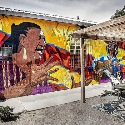 Murals of Casa Flamenca from the side of the building