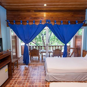 The Deluxe Room with AC at the Koh Tao Tropicana Resort