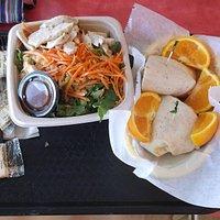 Chicken salad & wraps