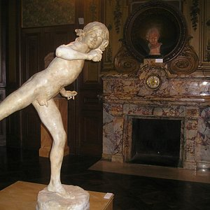 One of many sculptures on display