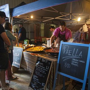 One of the Paella stalls