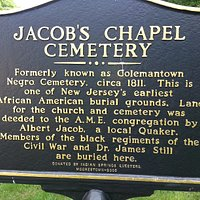 Jacob's Chapel Cemetary: Sign