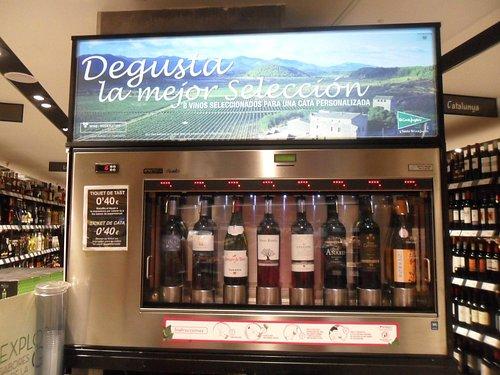 Wine sampling machine