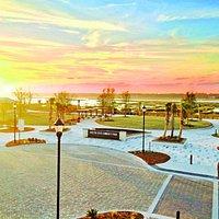 Sunset view from Poseidon Coastal Cuisine & Rooftop Bar