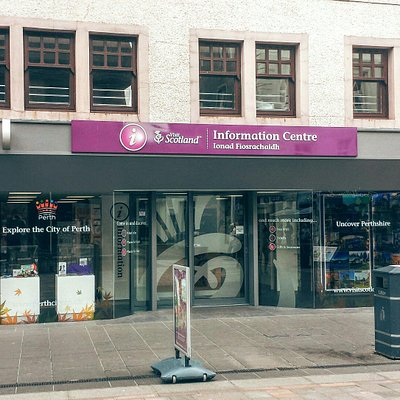 Exterior of the Perth VisitScotland information centre. Located directly opposite Argos on the h