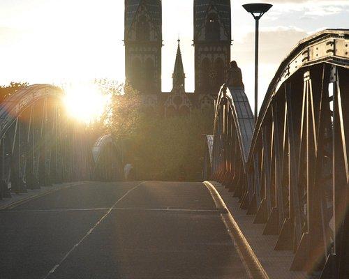 Blick über die Blaue Brücke